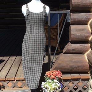 Urban Outfitters Plaid Midi Jumper Dress S